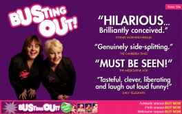 BUSTING OUT - OFFICIAL WEBSITE: Designed by Epod to promote the fabulous sell out show, Busting Out! Check out the video on this page, it's amazing!!!