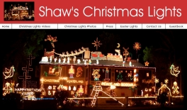 SHAW'S CHRISTMAS LIGHTS - OFFICIAL WEBSITE: Site designed by Epod for the Shaw family of Rockhampton who have an amazing Christmas Lights display at their residence every year. And...as if Christmas lights were not enough, the Shaw family also have an Easter lights display as well!